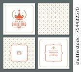 christmas greeting card vector...   Shutterstock .eps vector #754432570