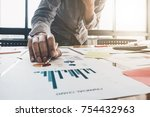 close up of businessman or... | Shutterstock . vector #754432963