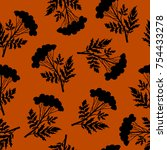 seamless floral pattern with... | Shutterstock .eps vector #754433278