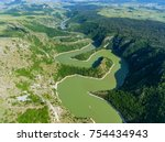 aerial view of meanders at...   Shutterstock . vector #754434943
