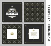 christmas greeting card vector...   Shutterstock .eps vector #754435558