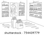cosmetics store graphic shop... | Shutterstock .eps vector #754439779