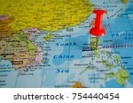 philippines on the map | Shutterstock . vector #754440454
