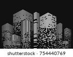 building and city illustration. ... | Shutterstock .eps vector #754440769