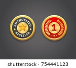 authorized reseller and first... | Shutterstock .eps vector #754441123