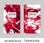 set of vector business card...   Shutterstock .eps vector #754441456