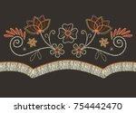 western flowers vector | Shutterstock .eps vector #754442470
