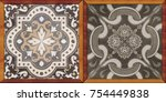 floor tiles   porcelain ceramic ... | Shutterstock . vector #754449838