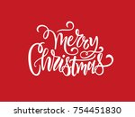 merry christmas vector text... | Shutterstock .eps vector #754451830