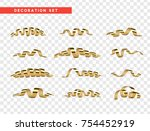 golden serpentine  isolated... | Shutterstock .eps vector #754452919