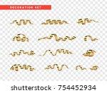 golden serpentine  isolated... | Shutterstock .eps vector #754452934