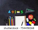 back to school  top view of... | Shutterstock . vector #754458268