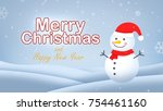 merry christmas and  happy new...   Shutterstock . vector #754461160