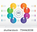 part of the report with icons... | Shutterstock .eps vector #754463038