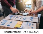 startup business people group... | Shutterstock . vector #754468564