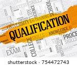 qualification word cloud ... | Shutterstock .eps vector #754472743