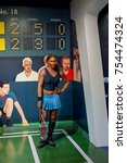 Small photo of NEW YORK, USA - SEP 16, 2017: Serena Williams, famous tennis player, Madame Tussauds NY wax museum.