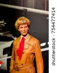 Small photo of NEW YORK, USA - SEP 16, 2017: Amelia Earhart, Madame Tussauds NY wax museum.