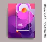 fluid color background. liquid... | Shutterstock .eps vector #754479400