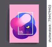 fluid color background. liquid... | Shutterstock .eps vector #754479403