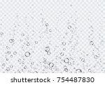 bubbles underwater texture... | Shutterstock .eps vector #754487830