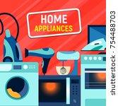shop  sale banner design with... | Shutterstock .eps vector #754488703