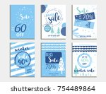 winter social media sale... | Shutterstock .eps vector #754489864