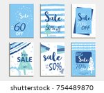 winter social media sale... | Shutterstock .eps vector #754489870