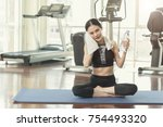 healthy and fitness people... | Shutterstock . vector #754493320