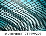 interior of building hall... | Shutterstock . vector #754499209