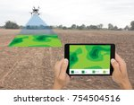 drone for agriculture  drone... | Shutterstock . vector #754504516