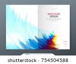 brochure template layout design.... | Shutterstock .eps vector #754504588