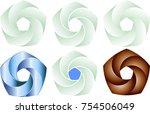 pentagonal helix company logo... | Shutterstock .eps vector #754506049
