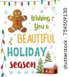 christmas design element.vector   Shutterstock .eps vector #754509130