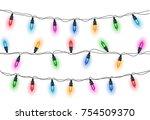 glowing light bulbs design... | Shutterstock .eps vector #754509370