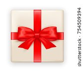 surprise gift box. vector... | Shutterstock .eps vector #754509394
