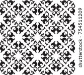 ornamental floral pattern   Shutterstock .eps vector #754511209