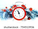 christmas eve and new years... | Shutterstock . vector #754513936