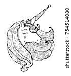 unicorn . magical animal.... | Shutterstock .eps vector #754514080