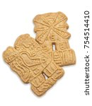two dutch speculaas cookies in... | Shutterstock . vector #754514410