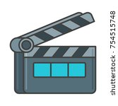 action movie clapperboard flat... | Shutterstock .eps vector #754515748