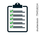 checklist icon form approved | Shutterstock .eps vector #754518214