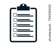 checklist icon vector | Shutterstock .eps vector #754520410