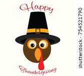 appy thanksgiving day... | Shutterstock .eps vector #754521790