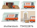 express delivery.  urgent...   Shutterstock .eps vector #754522876