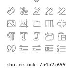 Stock vector edit text well crafted pixel perfect vector thin line icons x grid for web graphics and apps 754525699