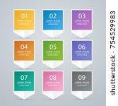 sticker label colorful set | Shutterstock .eps vector #754529983