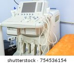 ultrasound medical equipment | Shutterstock . vector #754536154