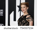amber heard at the world... | Shutterstock . vector #754537234