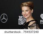 amber heard at the world... | Shutterstock . vector #754537240